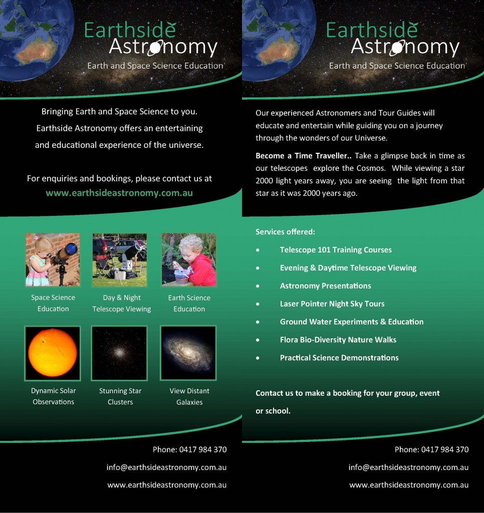 jpg image of our 2 page Astronomy flyer