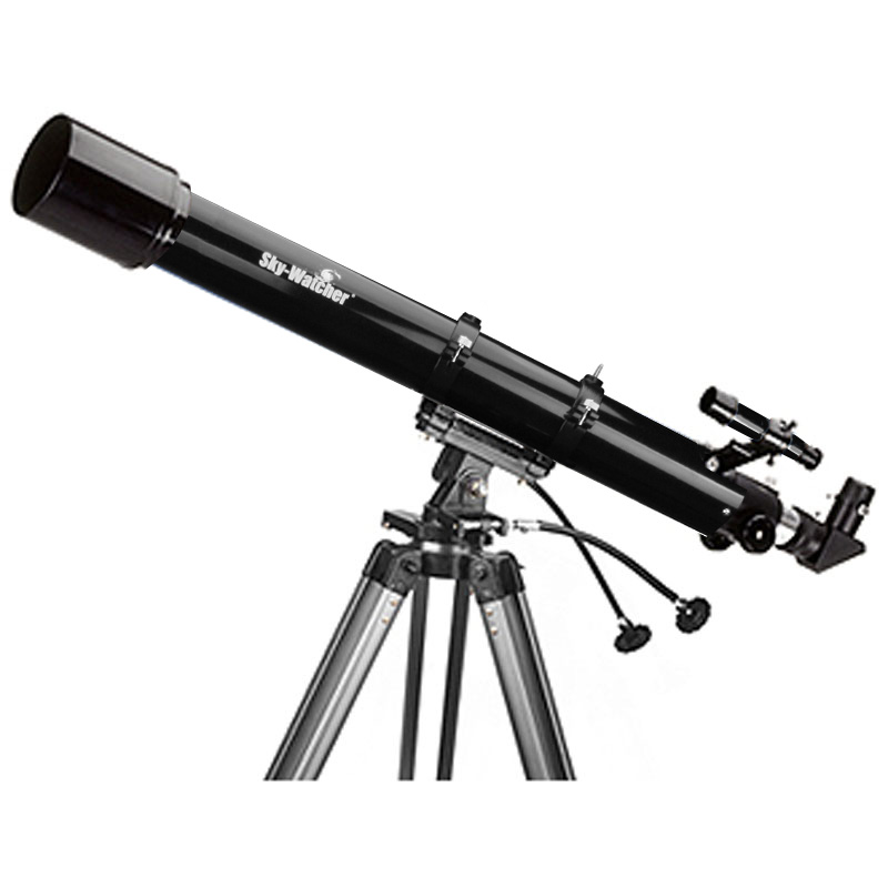 A boxed ''sky watcher'' telescope bkp1145eq1 with instructions.